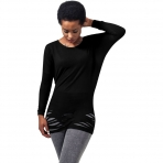 Urban Classics Ladies Cutted Viscose L/S Tee Black