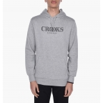 Crooks & Castles Hooded Pullover - Ballin Mane Heather Grey