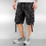 South Pole Non Denim Short Grey Black