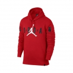 Jordan Flight Fleece Graphic Pullover Hoody Gym Red