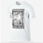 Jordan Aj 4 Hangtime Tee White/(Gym Red)