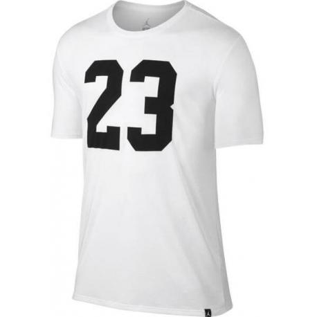 Jordan Iconic 23 Logo T-Shirt White/Black