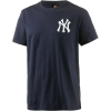 Majestic Tovey Mid Longline Logo Carrier Tee New York Yankees Navy