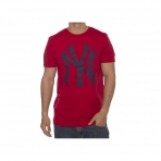 Majestic Precur Logo Carrier Tee New York Yankees Red