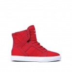 Supra Skytop Jr Red / White