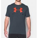 Under Armour Sportstyle Logo T-Shirt Stealth Gray Medium Heather/Black/Fire