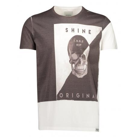 Shine Original Print Oversize Tee Jasper - White