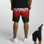 Dangerous Dngrs Corus86 Tag Shorts Black Red