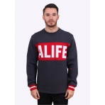 Alife Nyc Blocked Box Crewneck Eclipse Blue