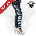 Mafia & Crime Criminal Leggings Black