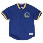 Mitchell & Ness Seasoned Pro Mesh Buttonfront 2.0 Golden State Warriors Blue