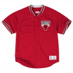 Mitchell & Ness Seasoned Pro Mesh Buttonfront 2.0 Chicago Bulls Red
