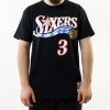 Mitchell & Ness Name & Number Traditional Tee - Allen Iverson Philadelphia 76Ers Black