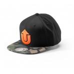 Upfront Šiltovka Logo Snapback Cap Black