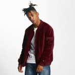 Rocawear Retro Velour Jacket Burgundy