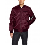 South Pole Ma1 Bomber Jacket Burgundy