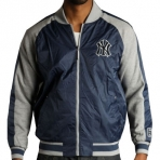 MAJESTIC FABRIC MIX JACKET NY YANKEES