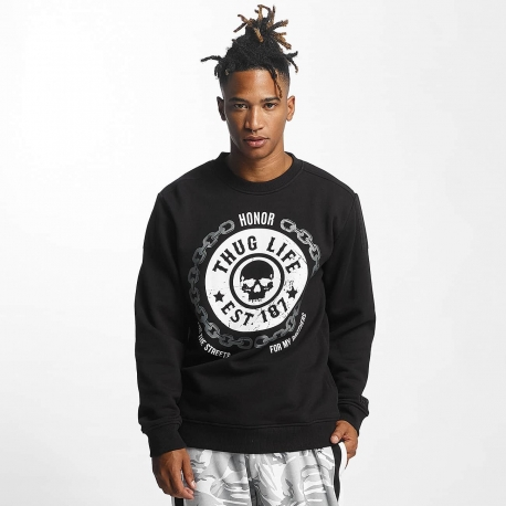 Thug Life Men Jumper Barley in black