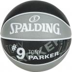 Spalding NBA Player Tony Parker sz.7 Grey/Black