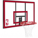 Spalding NBA Polycarbonat Backboard Transparent/Red