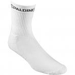Spalding Socks Mid Cut (3 páry v balení) White