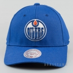 Mitchell & Ness Team Logo Cotton Low Pro Strapback NHL - Edmonton Oilers Blue