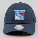Mitchell & Ness Team Logo Cotton Low Pro Strapback NHL - Ny Rangers Navy