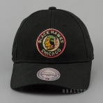 Mitchell & Ness Team Logo Cotton Low Pro Strapback NHL - Chicago Blackhawks Black