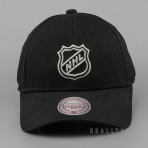 Mitchell & Ness Team Logo Cotton Low Pro Strapback NHL Logo Black