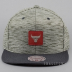Mitchell & Ness Brushed Melange Snapback NBA - Chicago Bulls Grey/Red