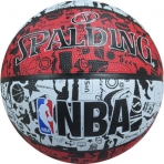 Spalding NBA Graffiti Outdoor sz.7 Red/Black/White