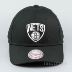Mitchell & Ness Team Logo Low Pro Strapback NBA - Brooklyn Nets Black