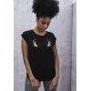 Urban Classics Ladies Flames Tee - black