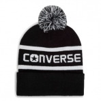 CONVERSE WORDMARK POM KNIT - BLACK