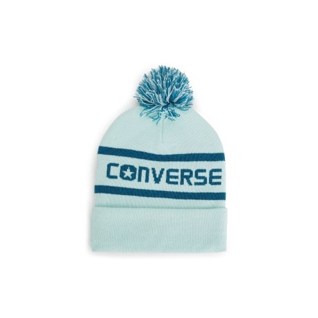 CONVERSE WORDMARK POM KNIT - BLUE