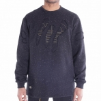 PELLE PELLE WEAR & TEAR CREWNECK BLACK