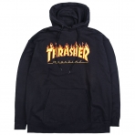 THRASHER FLAME HOOD BLACK