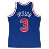 Mitchell & Ness Swingman Jersey - Allen Iverson 1996-97 Nr. 3 Philadelphia 76Ers Red/Royal