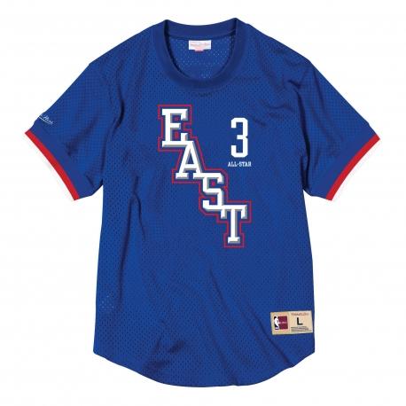 MITCHELL & NESS ALL STAR MESH CREW NECK 2004 EAST - ALLEN IVERSON BLUE