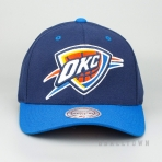 MITCHELL & NESS OKLAHOMA CITY THUNDER TEAM LOGO 2-TONE 110 SNAPBACK NAVY/ROYAL