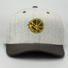 MITCHELL & NESS GOLDEN STATE WARRIORS VINTAGE TOP SHELF CURVE SNAPBACK GREY/BLACK