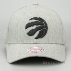 MITCHELL & NESS TORONTO RAPTORS TEAM LOGO LOW PRO SNAPBACK GREY HEATHER