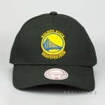 MITCHELL & NESS GOLDEN STATE WARRIORS TEAM LOGO LOW PRO SNAPBACK BLACK