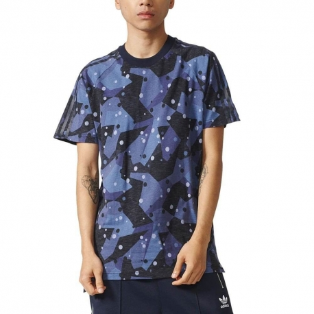 ADIDAS ORIGINALS NMD TEE CAMO BLUE