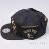 MITCHELL & NESS NBA PATENT CROPPED SNAPBACK GOLDEN STATE WARRIORS BLACK/GOLD
