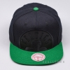 MITCHELL & NESS NBA CROPPED SATIN SNAPBACK BOSTON CELTICS BLACK/GREEN