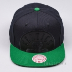 MITCHELL & NESS NBA CROPPED SATIN SNAPBACK BOSTON CELTICS BLACK/GREEN
