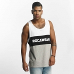 ROCAWEAR COLOR BLOCK TANKTOP WHITE