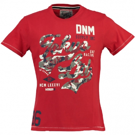 GEOGRAPHICAL NORWAY JECO T-SHIRT RED