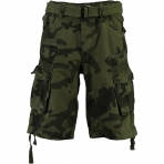 GEOGRAPHICAL NORWAY PANORAMIQUE CAMO SHORTS KAKI